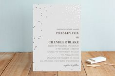 Thrilling Foil-Pressed Wedding Invitations by Design Lotus at minted.com