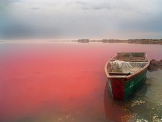 One of the wildest new things i've learned today, is that in Senegal there exists a lake that is actually pink, not blue.  The french call it Lac Rose...