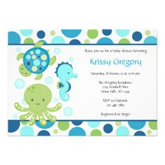 Sea Baby Shower Invitations these are cute!