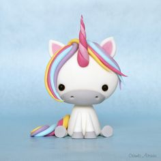 Cute Unicorn  fondant tutorial.                                                                                                                                                                                 More