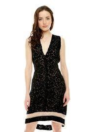 Burnout velvet dress