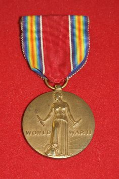 The World War II Victory Medal is a campaign medal of the United States military which was created by an act of Congress in July 1945. The medal commemorates military service during World War II and is awarded to any member of the United States military, including members of the armed forces of the Government of the Philippine Islands, who served on active duty, or as a reservist, between December 7, 1941 and December 31, 1946.