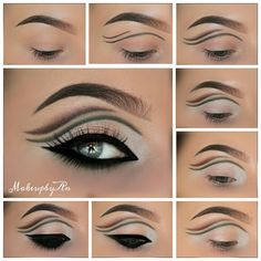 How to: double cut crease eye makeup #tutorial #evatornadoblog #maquiagem #greyeyes