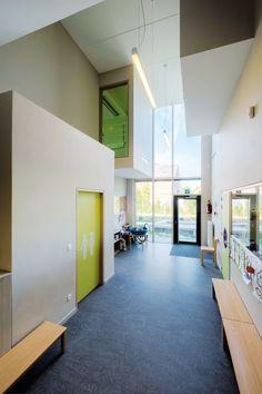 Ecole poly-passive (Bilzen). Een school vol passieve energie (Bilzen). www.lav-a.eu © Photographe Chak Lopez #architecture - #projet