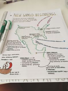 Apuntes notas organizar mapa historia color
