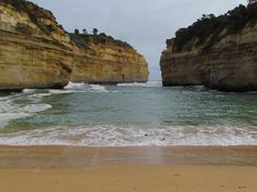 Great Ocean Road in Melbourne, Australia. It's a quiet and secluded cove.