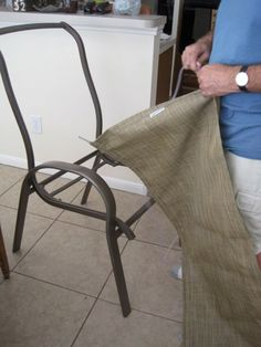Our patio furniture was in need of a little attention: Look at the bottom of the seat...my son went right through it! When we purcha...