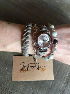 Montre bracelets femme boho à enrouler deux tours cuir Tours, Watches, Bracelets, Accessories, Etsy, Fashion, Wristwatches, Unique Jewelry, Leather