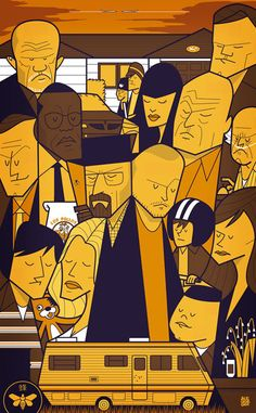 The most famous artworks by italian illustrator Ale Giorgini are based on cult movies (Pulp Fiction, Kill Bill, Lost in Translation, The Blues brothers…) and TV series (like Breaking Bad, The big bang theory, Dexter, Games of Thrones). His remakes of famous movie posters are immediately recognizable because Ale's style is totally unique. The geometry, the perfect harmony between shapes and between colors are his trademark. One of the most amazing thing in his work is how he is able to make…