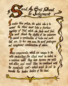 "Book of Shadows:  ""Send An Evil Ghost To Judgement,"" by Charmed-BOS, at deviantART."