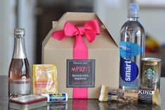 Bachelorette Party Survival Box {Bridesmaid gifts, Hangover kit, Bachelorette Weekend} Set of 6 by SweetTeaPaper on Etsy https://www.etsy.com/listing/188145504/bachelorette-party-survival-box