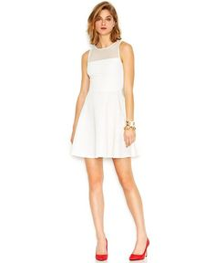 Ivory/Cream, Knee Length, Short, White Dresses - Macy's