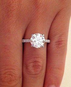 3 Carat Diamond Ring On Finger | 91+ [ Princess Cut Wedding Rings 2 Carat ] - Leo Diamond ... #princesscutring