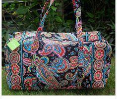 New VERA BRADLEY Large Duffel in PARISIAN PAISLEY - Travel Bag - Beautiful! #VeraBradley