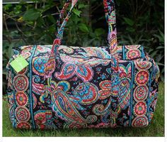 New VERA BRADLEY Large Duffel in PARISIAN PAISLEY - Travel Bag - Beautiful! #VeraBradley