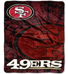 San Francisco 49ers Royal Plush Raschel Throw Blanket $34.95 http://www.mysportsdecor.com/san-francisco-49ers-throw-blanket.html #sanfrancisco49ers #sanfrancisco49ersthrowblanket #sanfrancisco49ersbedding