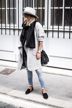 A Blogger's Laid-Back Chic Take On Black And Grey