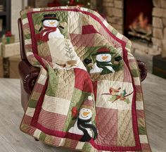 Sno Place Like Home Quilted Throw from Through the Country Door®