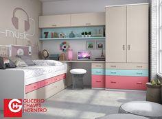 Habitaciones del catálogo FORMAS 15 de Glicerio Chaves Hornero creadas para aprovechar el espacio y mejorar la estancia de tu hijo.