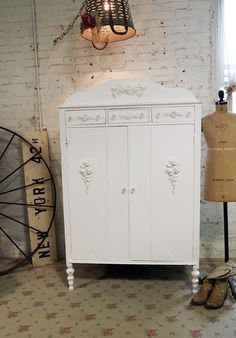 Painted Cottage Chic Shabby White Vintage by paintedcottages, $395.00