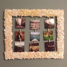 Got some old frames that need a little TLC? IGer @abbykludwig DIY'd this floral frame with just some fake flowers, hot glue and an empty frame.