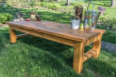 Here's the perfect pace to kick back and relax in your backyard. This bench is built from cedar for great looks that will last. Straightforward construction means it's easy to build, too.