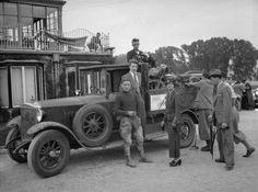 """Motorradrennen Trabrennbahn Wien Krieau 1935 Martin Schneeweiss (""""Mister Rudge"""") mit seinem Steyr Quelle:Tech.Museum Wien Arthur Fenzlau www.technischesmuseum.at"""