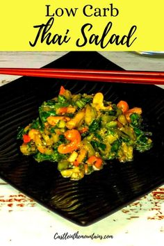 This low carb chopped Thai salad recipe is coated with Sesame dressing and makes a naturally Keto side dish. Great with any spicy meal.veggies to you low carb diet. Delicious! This is an easy way to add Keto perfect #castleinthemountains #easyketo #lowcarbthairecipes Spicy Recipes, Low Carb Recipes, Thai Salads, Spicy Dishes, Keto Side Dishes, Gordon Ramsay, Jamie Oliver, Low Carb Diet, Diet And Nutrition