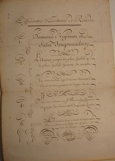 BIBLIOTYPES: Paillasson, Charles: Caligrafía francesa del s. XVIII Old Calligraphy, Calligraphy Handwriting, Penmanship, Caligraphy, Most Beautiful Words, Book Letters, Typography, Lettering, Script