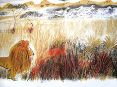 Illustration by Roger Duvoisin from The Happy Lion in Africa, 1955,