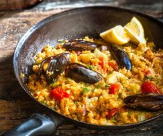 Food Categories, Greek Recipes, Paella, Food Dishes, Seafood, Recipies, Veggies, Favorite Recipes, Cooking