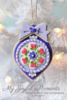 Handcrafted Polymer Clay Ornament por MyJoyfulMoments en Etsy, $15,00