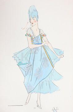 Lucile robe de style designs, 1915-20