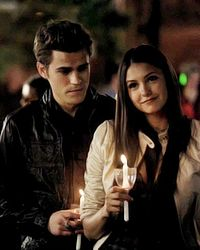 """#Stelena 1x02   Elena: """"We met and we talked and it was epic. But the sun came up and reality set in.""""  Stefan: """"You wanna know what i would have written? I met a girl, we talked, it was epic. But the sun came up and reality set in. This is reality, Elena. Right here."""" *First kiss*"""