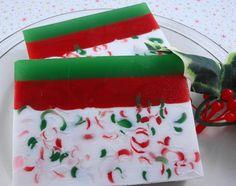 Christmas Soap - Santa's Beard  Soap - All Natural Glycerin Soap - Holiday Soap. $5.50, via Etsy.