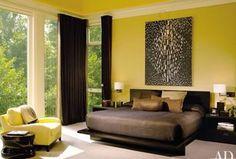 4 tags Contemporary Master Bedroom with Restoration Hardware Vintage Velvet Drapery, B & B Italia Fat Fat