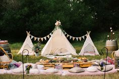 Luxury Teepee Picnic Hire Styled to Perfection Backyard Birthday, Picnic Birthday, Outdoor Birthday, Boy First Birthday, First Birthday Parties, Backyard Bbq, Birthday Bash, Kids Picnic, Picnic Set