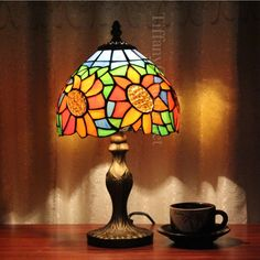 99.00$  Buy now - http://aliia0.shopchina.info/go.php?t=32804323737 - Hot sale 20cm European style garden lamp Tiffany table lamp hotel bedroom lamp Fugui flower sunflower light 99.00$ #SHOPPING