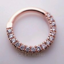 Maria Tash Eternity Septum Clicker Rose Gold 5/16 16g