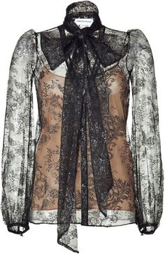 EMILIO PUCCI Black Lace Top with Nude Camisole
