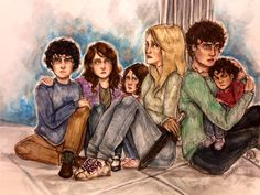 Tiberius, Livvy, Dru, Emma, Julian, and Tavvy (all Blackthorns but one), City of Heavenly Fire