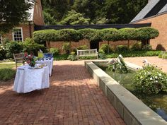 #Catering #wedding #reception at Gunston Hall, in the courtyard, Lorton VA.  Www.teatimeinc.com