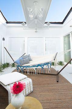 Kennedy Compound, Atrium Design, Traditional Home Magazine, Florence Broadhurst, Modernism Week, Powder Room Design, Patio Umbrellas, Interior Decorating, Interior Design