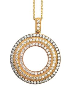 Circle of Life 22kt gold plated necklace
