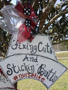 Nurse Door Sign Teacher Door Sign Hanger By Melanielupien
