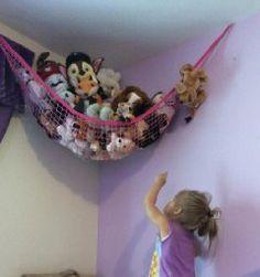 Organization Skills, Clutter Organization, Fuchsia, Pink, Toy Hammock, Hanging Storage, Sports Equipment, Decoration, Teaching Kids