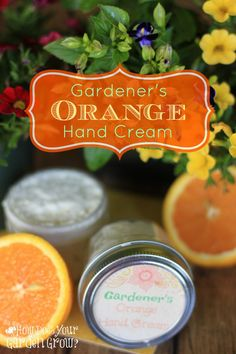 The four-ingredient hand cream made with Orange Essential Oil is the perfect cure for dry hands. Great for the gardener, DIYer or anyone who want smooth hands with all-natural products.