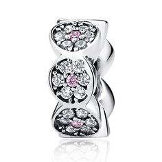 39b129311 New Arrival 925 Sterling Silver Clearly CZ Pink Silver Beads Charms Fit  Pandora Bracelet Women Fashion Jewelry