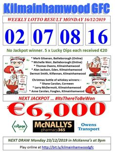 Support the fundraising efforts of Kilmainhamwood GFC, Kilmainhamwood Kells, Meath. Lotto Draw, Number Drawing, Jackpot Winners, Text Messages, Fundraising, Dip, Texts, Numbers, Jackson