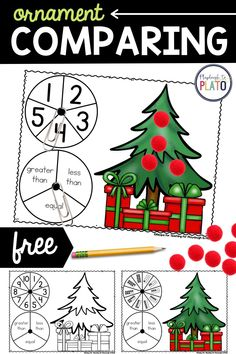 If you're looking for a fun Christmas themed counting and comparing numbers game for your preschoolers or kindergarteners, our ornament comparing game is a good choice to have kids practice this important math skill. It helps our youngest learners build strong number sense. Kids will love comparing ornaments in this hands-on (and addictively fun!) math game.
